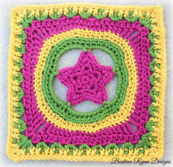Block #13 for the 2015 Moogly Afghan CAL! All blocks in the CAL are free!
