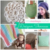 In the June Moogly Designer Showcase: Little Monkeys Crochet! Get 5 Free Crochet Patterns from this fab designer!