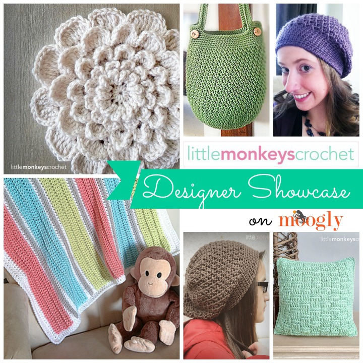 In the June Moogly Designer Showcase: Little Monkeys Crochet! Get 5 Free Crochet Patterns from this fab designer!