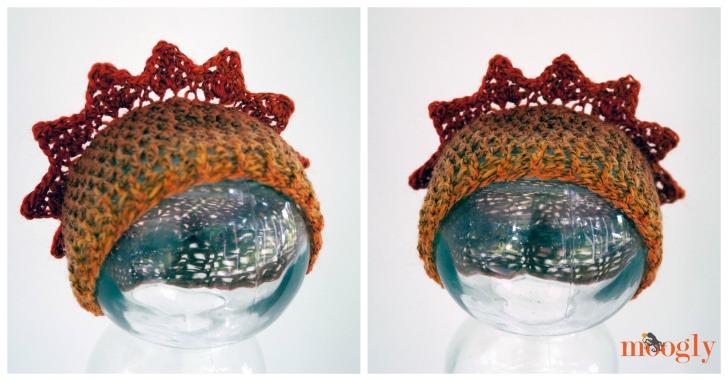 My Sunshine Baby Hats - super cute newborn-3 month size hat pattern on Moogly!