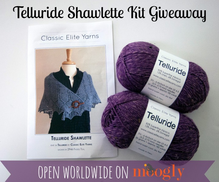 Telluride Shawlette Kit - giveaway on Moogly! #knit #diy Ends 6/29/15