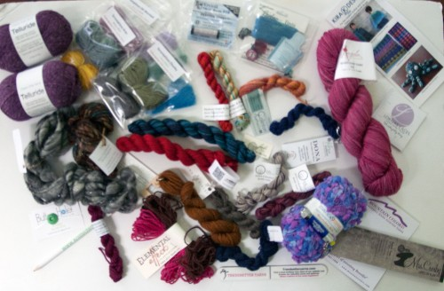 Loot from the Yarn Quest at TNNA Columbus 2015