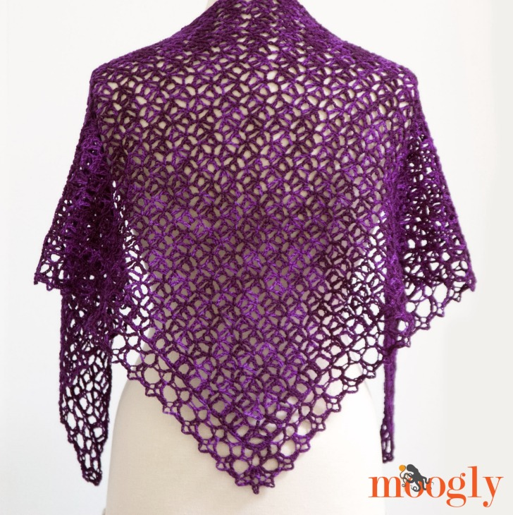 Fortunes Shawlette Free Crochet Pattern On Moogly