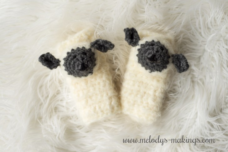 Lamb Car Seat Strap Covers: FREE crochet and knit patterns from Melody's Makings!