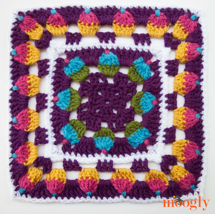Cupcake Celebration Square - Block #15 in the Moogly 2015 Afghan CAL!