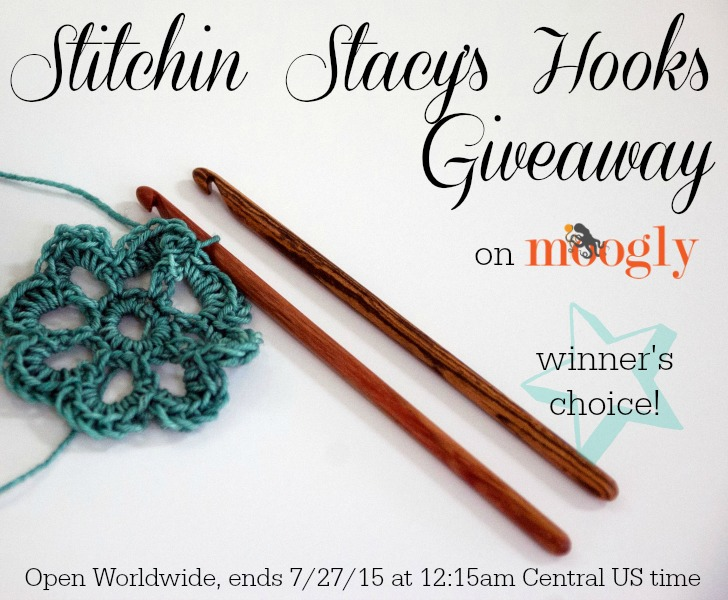 Stitchin Stacy's Hook Giveaway on Moogly! Open Worldwide, ends 7/27/15 at 12:15 am Central US time.