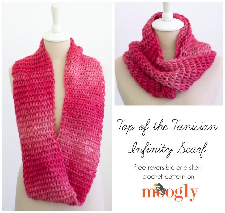 Top Of The Tunisian Infinity Scarf Moogly