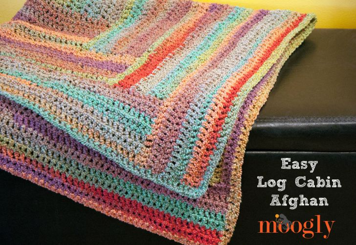 Easy Log Cabin Afghan Moogly