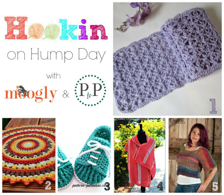 Hookin On Hump Day #102 - the bestest linky party for knit and crochet on the web! Hosted on both Moogly and Petals to Picots - get the links to all these fantastic projects, and add your own blog links too!