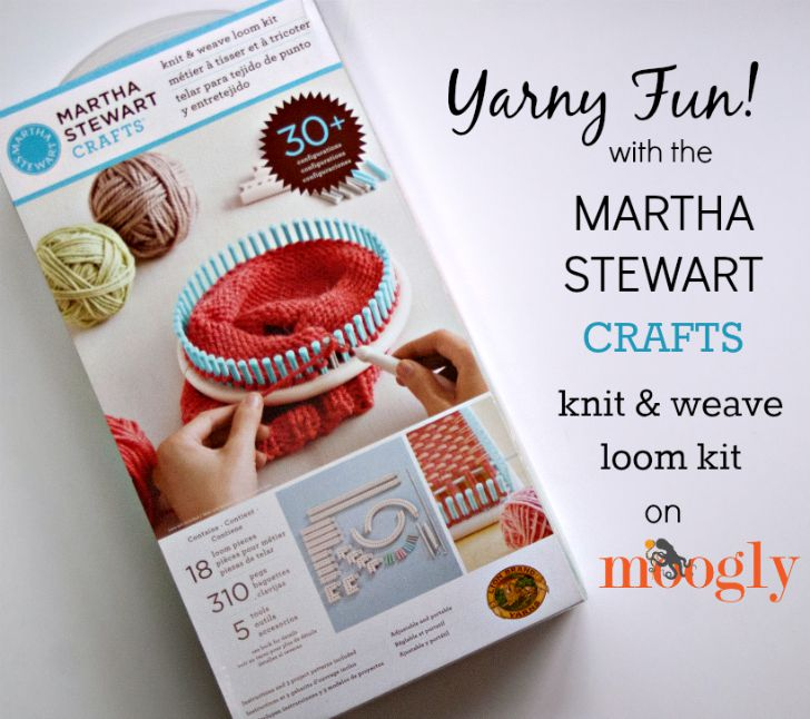 Knitting Loom Kit : Yarny fun with the martha stewart knit weave loom kit