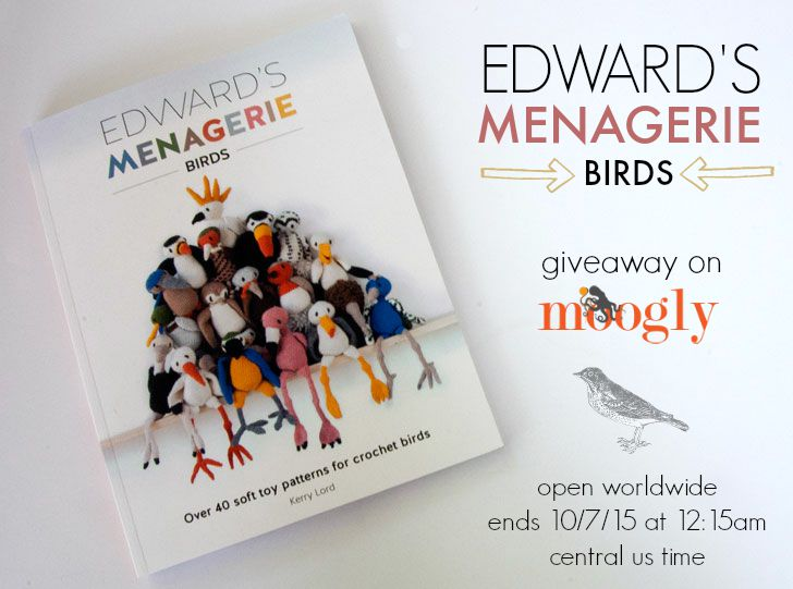 """Win your own copy of """"Edward's Menagerie: Birds"""" by Kerry Lord - on Mooglyblog.com! Open worldwide, ends 10/7/15"""