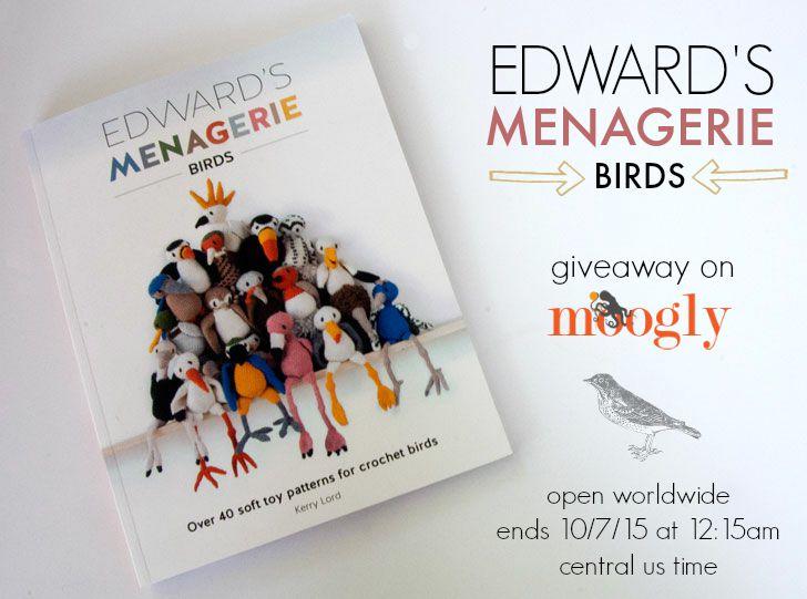 Edwards Menagerie Birds Crochet Book Giveaway