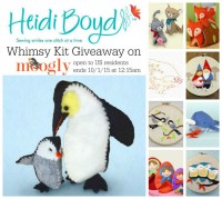 Heidi Boyd Whimsy Kit Giveaway on Moogly! Win a super cute Penguins kit to sew your own softies - makes a great gift too! Open to US residents, ends 10/1/15 at 12:15am Central US time.
