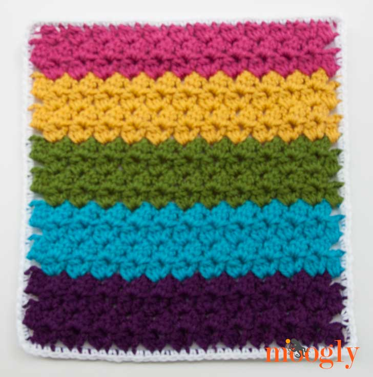 Block #18 in the Moogly 2015 Afghan CAL! Get all 24 free crochet patterns to create your own gorgeous blanket!