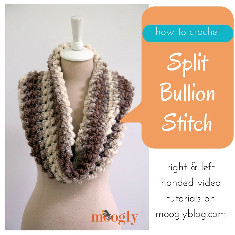 Learn how to crochet the Split Bullion Stitch, as seen in the FREE Squish pattern on Mooglyblog.com!