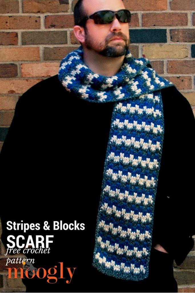 Stripes And Blocks Scarf Moogly