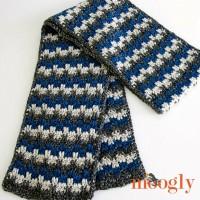 Stripes & Blocks Scarf - FREE crochet pattern on Moogly!
