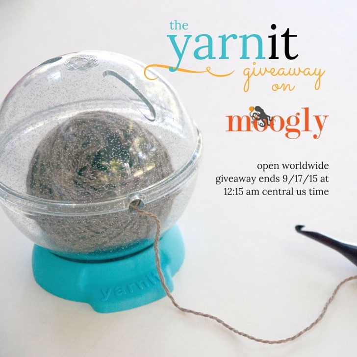 Win The YarnIt on Mooglyblog.com! Giveaway open worldwide, ends 9/17/15