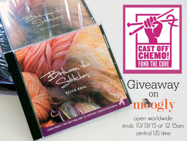 Cast Off Chemo! Learn more about how crocheters and knitters are uniting to support cancer research - and win one of 5 CDs made just for the cause! Giveaway ends 10/13/15