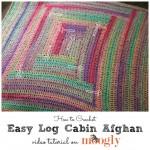 Easy Log Cabin Afghan Tutorial
