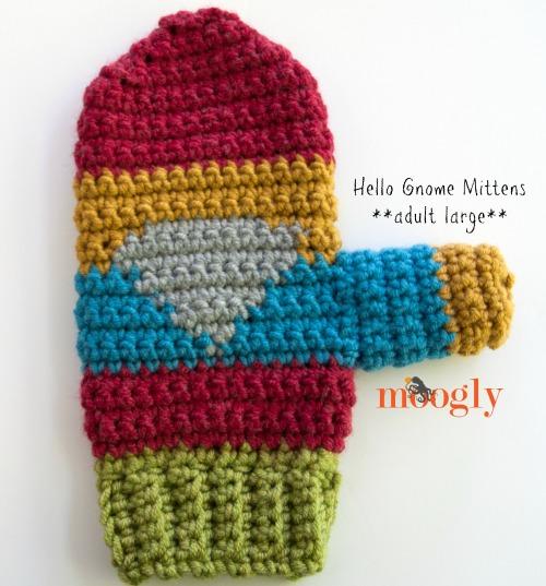 Hello Gnome Mittens Free Crochet Pattern On Moogly