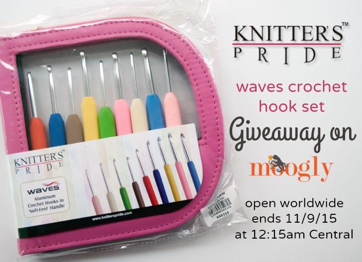 Knitter's Pride Waves Crochet Hook Set Giveaway on Moogly! See photo or blog for details!