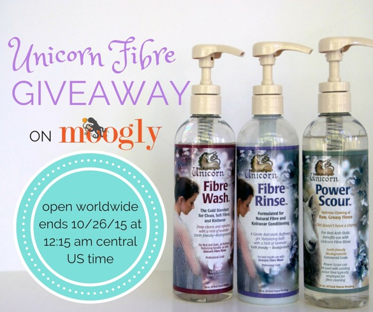 Win Unicorn Fibre care products on Moogly! Perfect for knitters, crocheters, and spinners! Ends 10/26/15