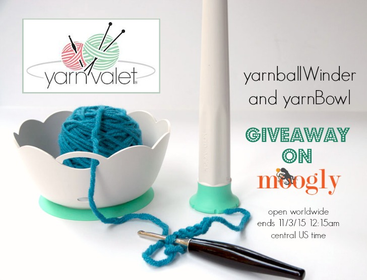 Win a Yarn Valet yarnballWinder and yarnBowl on Mooglyblog.com! 2 winners, open worldwide, ends 11/3/15!