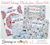 Win Adult Coloring Books from Leisure Arts on Moogly! 4 books, 1 winner, open worldwide! Ends 11/30/15 at 12:15am Central US time.