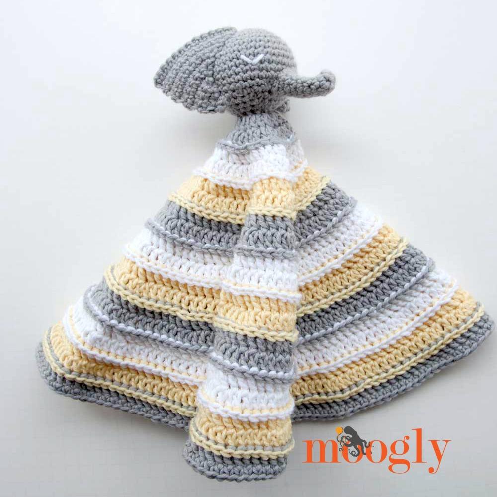 Josefina and Jeffery Elephant Security Blanket PDF Crochet Pattern | 1000x1000