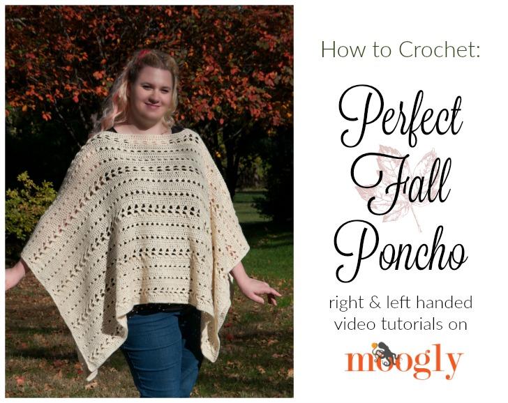 Easy crochet poncho tutorial youtube.
