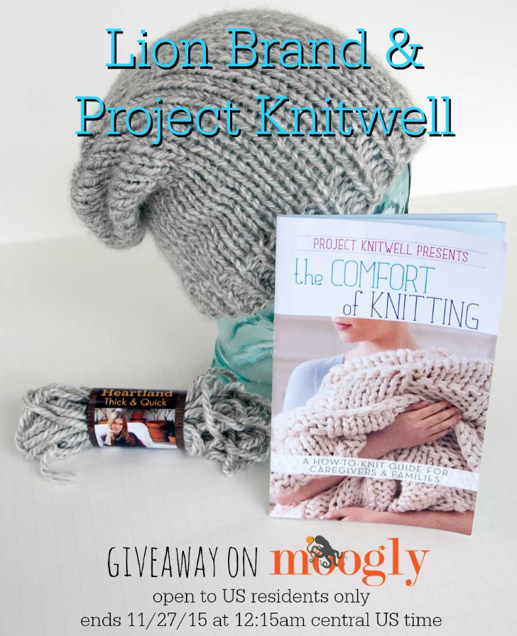 Win the Project Knitwell Giveaway on Moogly! See photo and blog for details!