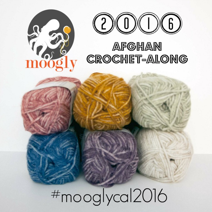 Get ready for the 2016 Moogly Afghan Crochet-Along! Starts January 7th!
