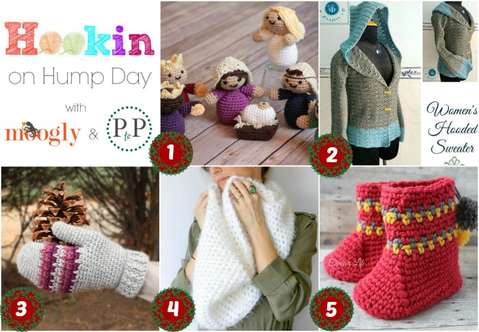 Hookin On Hump Day - get these fab crochet patterns and add your own links to this yarny link party - the last one for 2015!