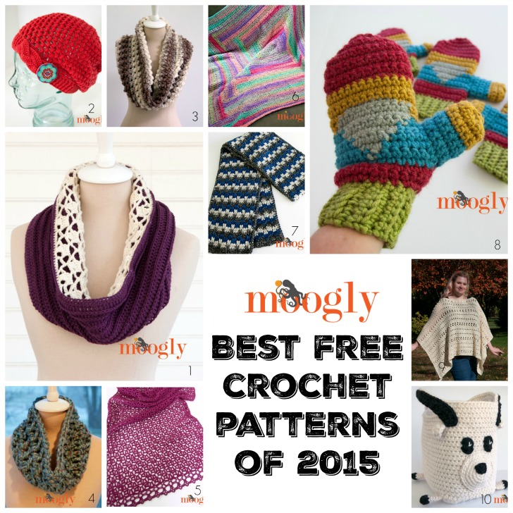 Check out 10 of the Best Mooglyblog.com FREE crochet patterns from 2015!