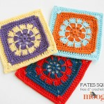 "Fates Square - FREE 6"" crochet block pattern on Mooglyblog.com!"