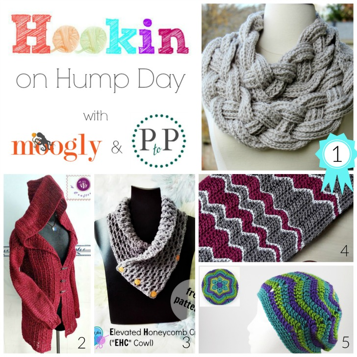 Hookin On Hump Day 111 is up - with 5 FREE crochet and knit patterns this round! Get the links and add your own to the only link party hosted on Moogly and Petals to Picots!