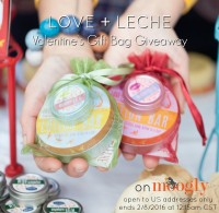Win a Love + Leche Valentine's GIft Bag on Mooglyblog.com! Giveaway ends 2/8/16 at 12:15am CST, open to US addresses only.