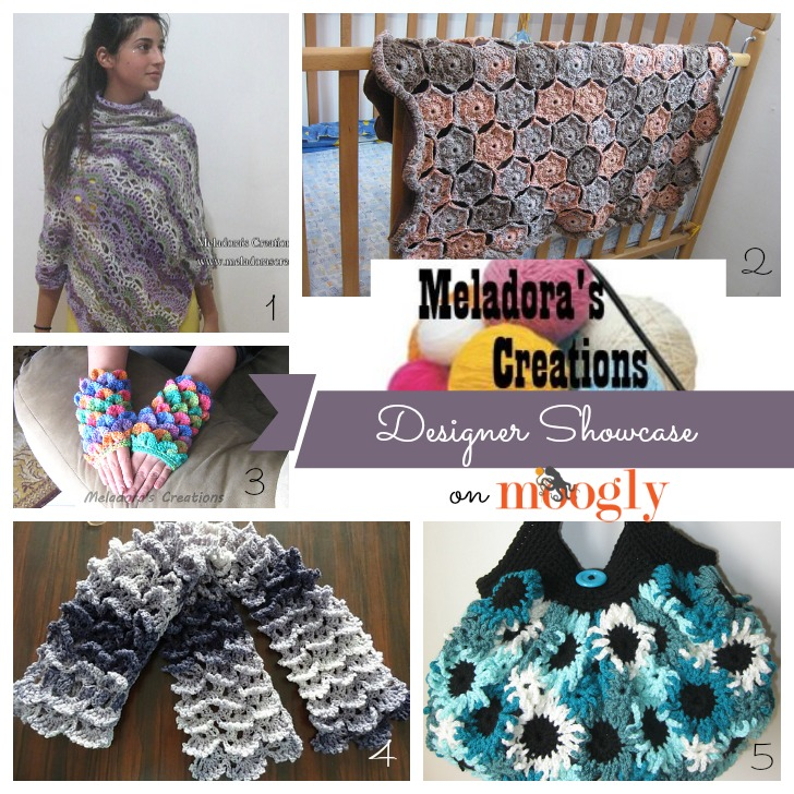 Meladora's Creations in the Moogly Designer Showcase! Get 5 FREE crochet patterns!