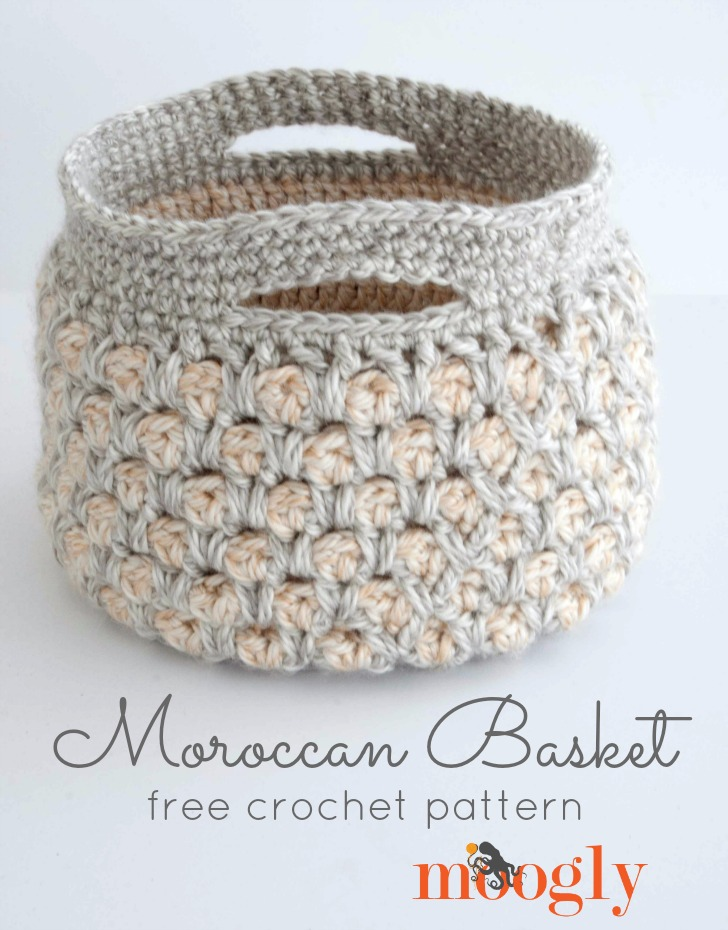 Free Crochet Pattern Moroccan Basket Moogly Inspiration Free Crochet Basket Patterns