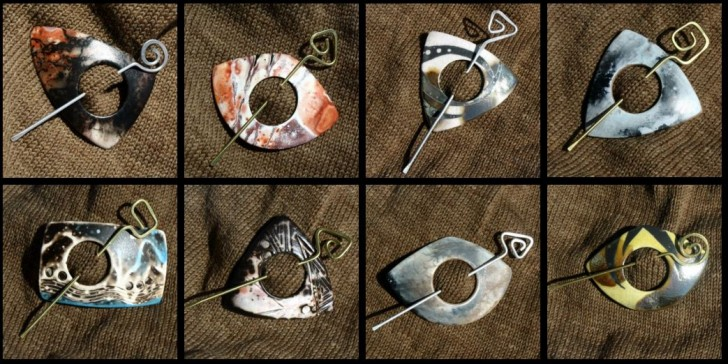 Gorgeous Shawl Pins from LickinFlames.com!