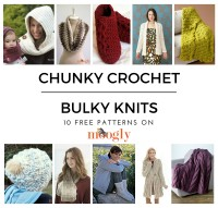 Chunky Crochet & Bulky Knits - Stay Warm With 10 Free Patterns! Collection on Mooglyblog.com