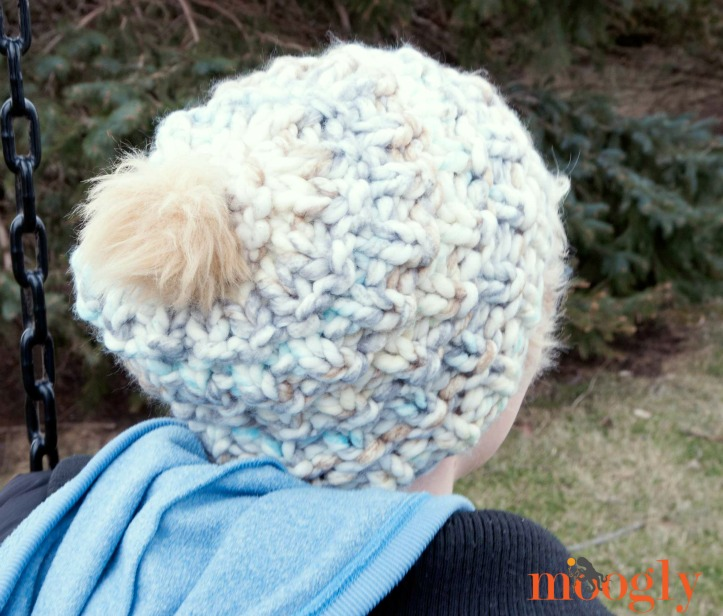 Cloud Cover Beanie - free #knit pattern on Mooglyblog.com! Just 1 ball of Lion Brand Color Clouds needed!