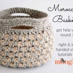 The Moroccan Basket now includes a special video tutorial! Watch and get the FREE crochet pattern on Mooglyblog.com!