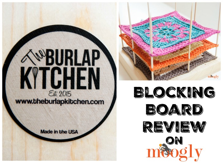 Moogly reviews The Burlap Kitchen Blocking Boards - on Mooglyblog.com!