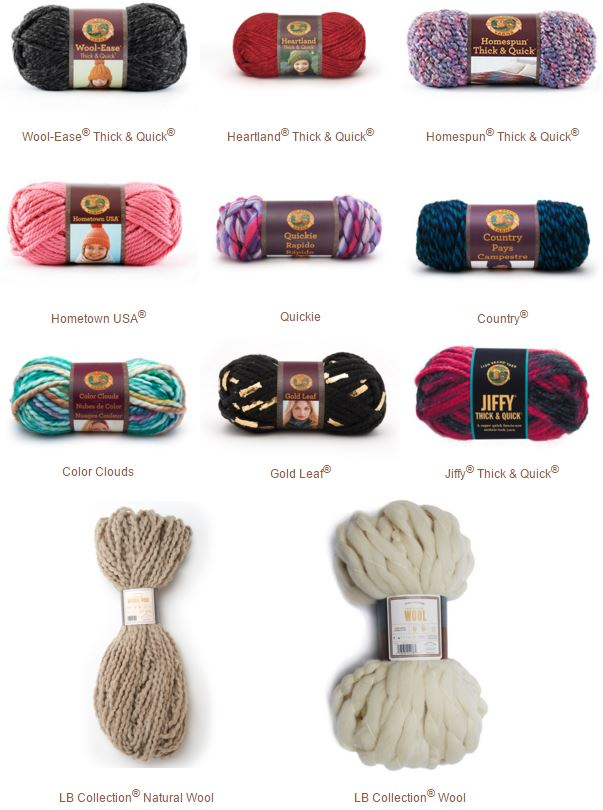 Enter to win ELEVEN skeins of bulky and super bulky yarn from Lion Brand -on Mooglyblog.com! Giveaway ends 2/29/16