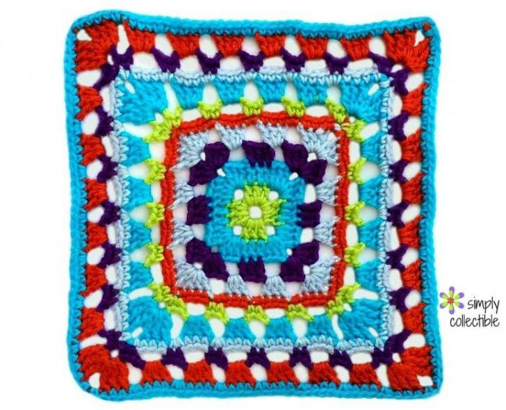 Block #6 for the 2016 Moogly CAL - courtesy of SimplyCollectibleCrochet!