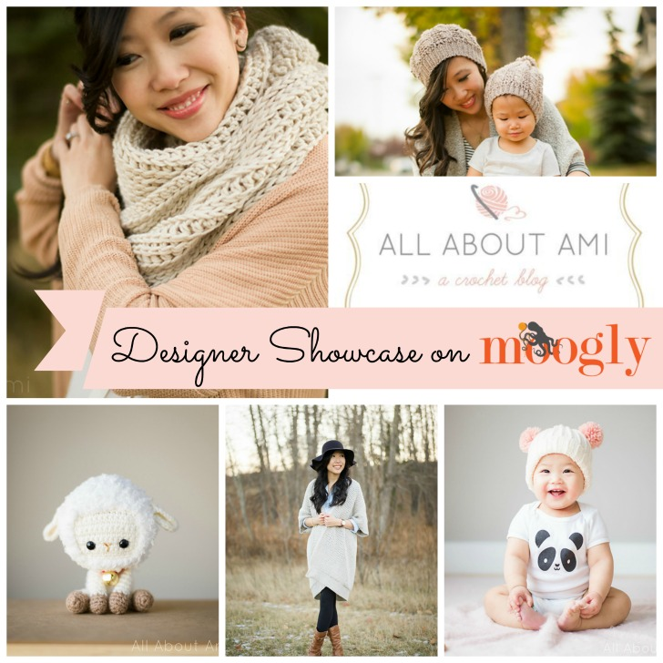 All About Ami is in the Moogly Designer Showcase! Learn more about this fantastic designer and get 5 FREE crochet patterns on Mooglyblog.com!