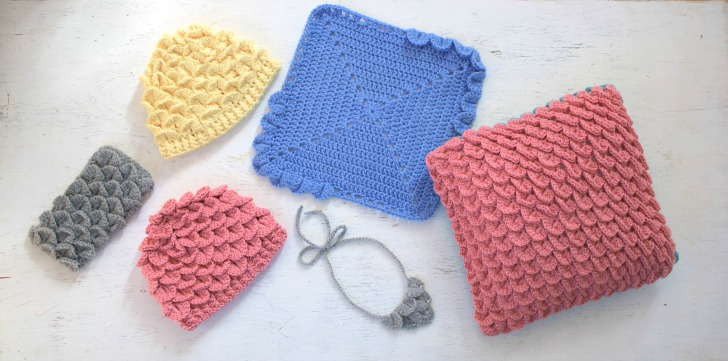 Crochet Crocodile Stitch with Tamara Kelly for Lion Brand Yarn - a new Craftsy Class with Tamara from Mooglyblog.com! You won't believe what you can do with this stitch!