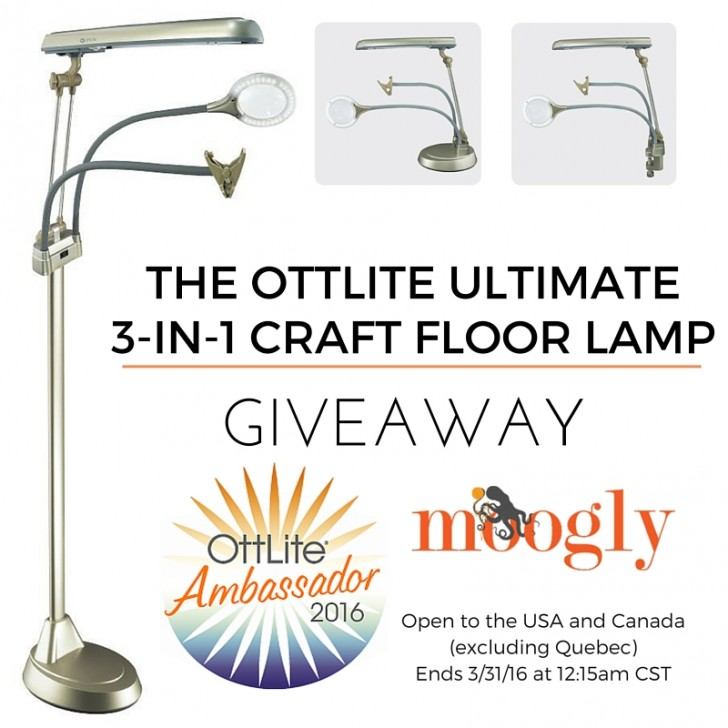 OttLite Ultimate 3-in-1 Craft Floor Lamp: Giveaway on Moogly! See photo and post for details!